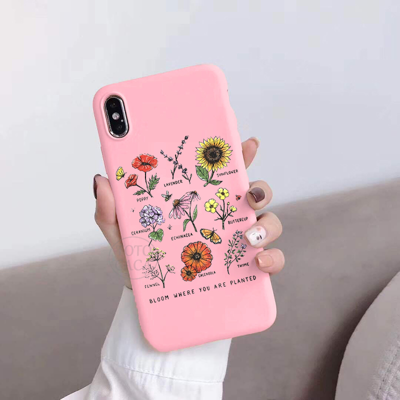 Bloom Where You Are Planted Flower Phone Case For Coque Huawei P10 PLUS P20 P30 P40 PRO LITE Honor 10 10 LITE 9 9LITE Soft Cover