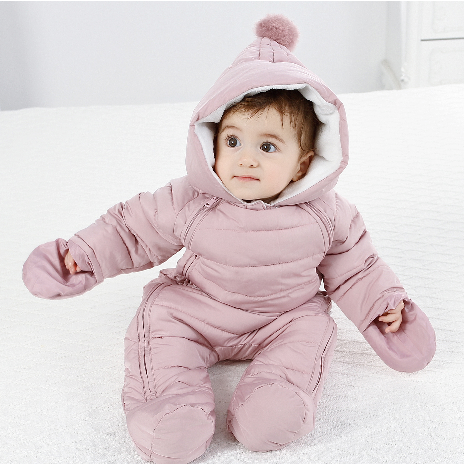 Baby Winter Jumpsuit Baby Girl Clothes Jumpsuit Children Winter Overalls For Girls Snowsuit Children\x27s Newborn Snowsuit