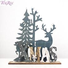 FENGRISE Christmas Ornaments Elk Tree Decorations For Home DIY Xmas Crafts 2019 Navidad Gift Party Decor New Year 2020