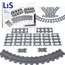 Compatible with legoinglys City Trains Train Flexible Track Rail Crossing Straight Curved Rails Building Block Bricks Kids Toys цены