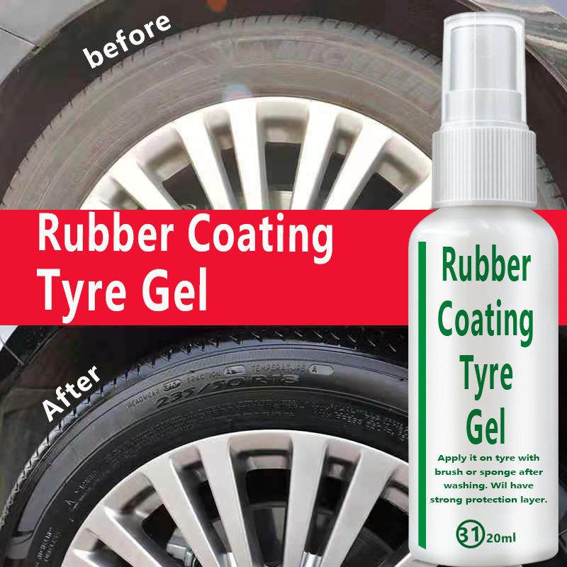 20ML Car Tire Wheel Cleaning Coating Agent Brightener Decontamination Tire Protector Tire Restoration Accessory