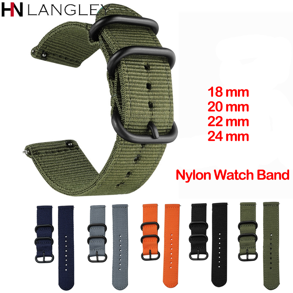 Canvas Nylon Wristband Strap For Xiaomi Amazfit Stratos 2 2S Pace Straps Amazfit Bip Watch Band For Samsung Gear S3 S2 Galaxy