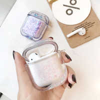 NEW liquid Quicksand glitter case For Airpods wireless Bluetooth Earphone Case Transparent Headphone Protection Cover coque capa
