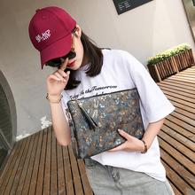 Womens Bags Handbags Floral Large Clutch Purses and Handbags Faux Leather Ipad Fit Long Strap Women Messenger Envelop Shoulder B cheap Barhee Day Clutches Envelope NONE 1113-1 Polyester Single Flowers Chains Vintage Versatile zipper Cell Phone Pocket Interior Zipper Pocket