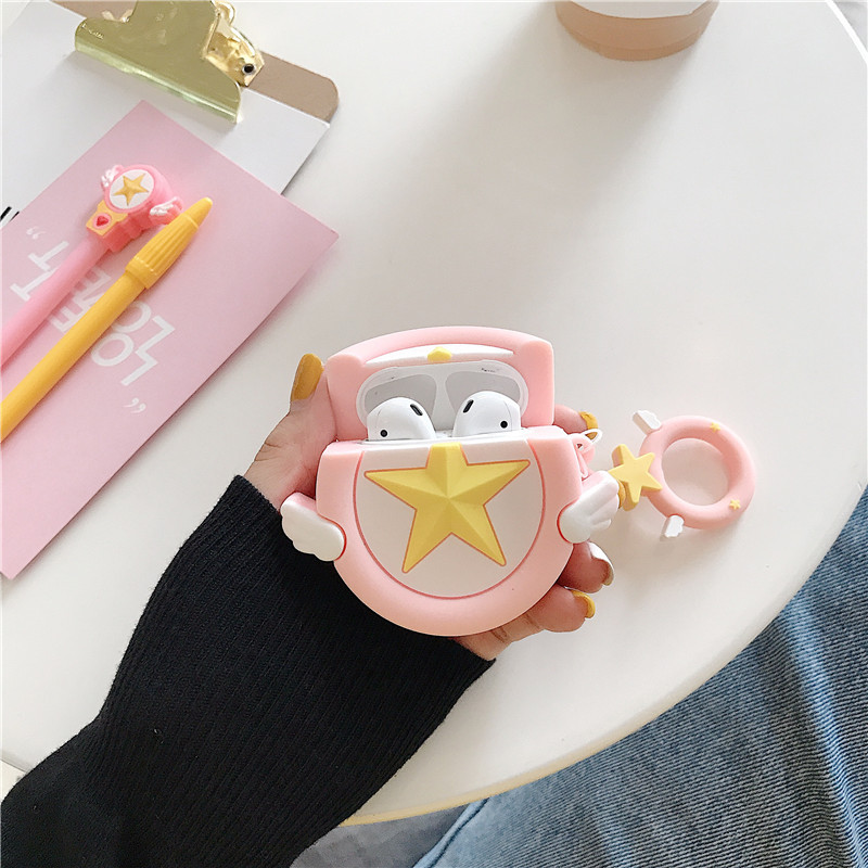 Card Captor Sakura Cosplay Props Apple AirPods Headphones Cases Sailor Moon Protective Cover Cartoon