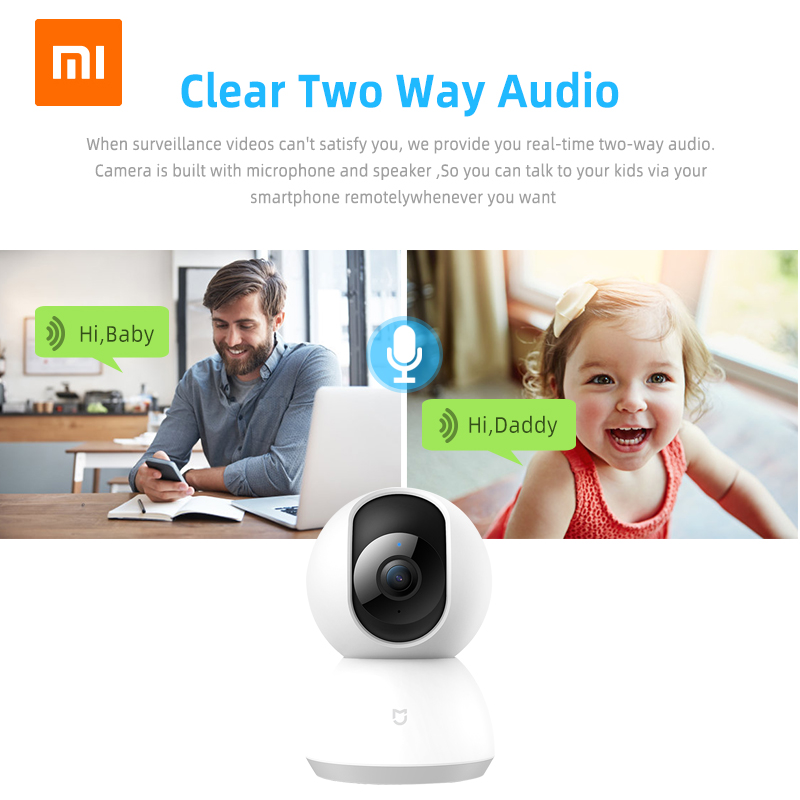 Xiaomi Smart-Camera Camcorder Webcam Wifi Night-Vision Home-Security 1080P Wireless 360-Angle