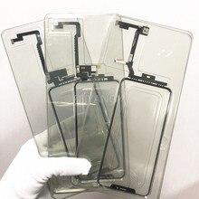 1 /5/10 をappleのiphone 5 x xs xsmaxなし溶接タッチスクリーン + ocaデジタイザのフロントガラスレンズ外側パネルフレックス