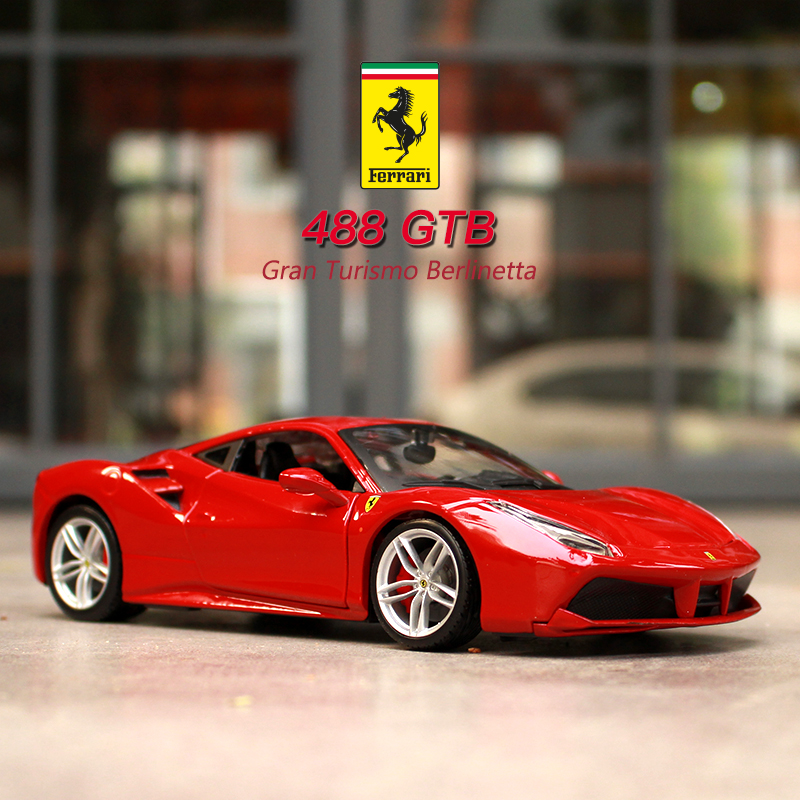 Bburago 1:24 Ferrari 488GTB Collection Manufacturer Authorized Simulation Alloy Car Model Crafts Decoration Collection Toy Tools
