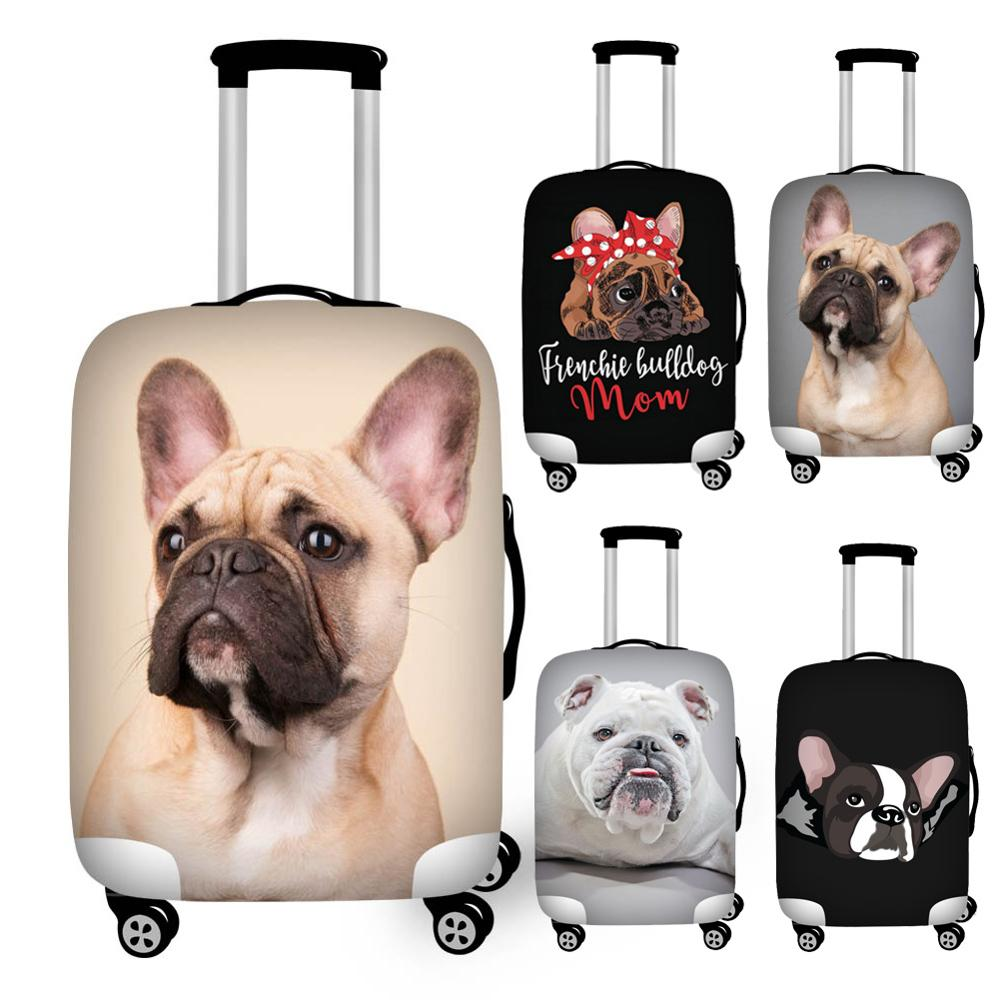 French Bulldog Print Travel Luggage Dust Cover Stretch Protective Suitcase Cover For 18''-32'' Trolley Trunk Case Waterproof