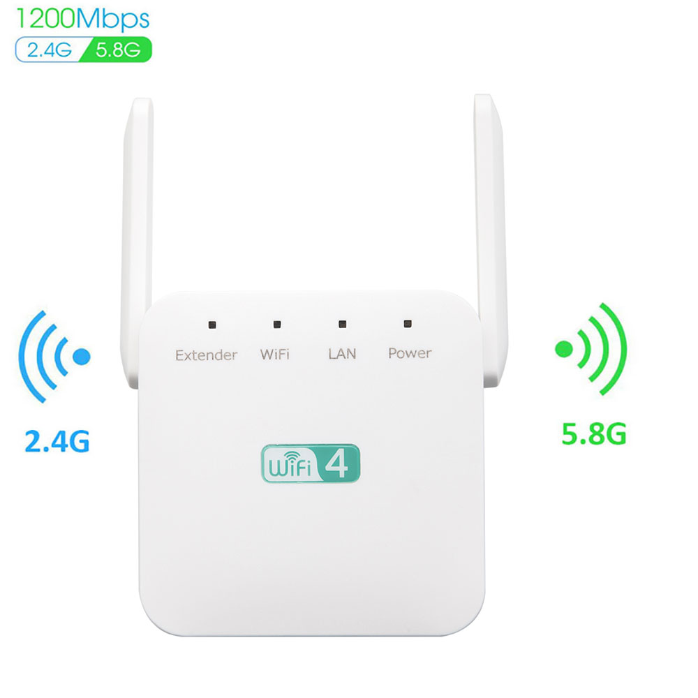 WiFi Repeater WiFi Extender 2.4G 5G Wireless WiFi Booster WiFi Amplifier 5ghz WiFi Signal Repeater Wi-Fi 1200Mpbs 300Mbps