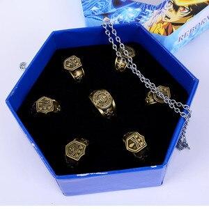 Кольца для косплея аниме Katekyo Hitman Reborn Sawada Tsunayoshi, винтажные кольца vonголы с коробкой, экшн-фигурка, ювелирные изделия для косплея, подарок
