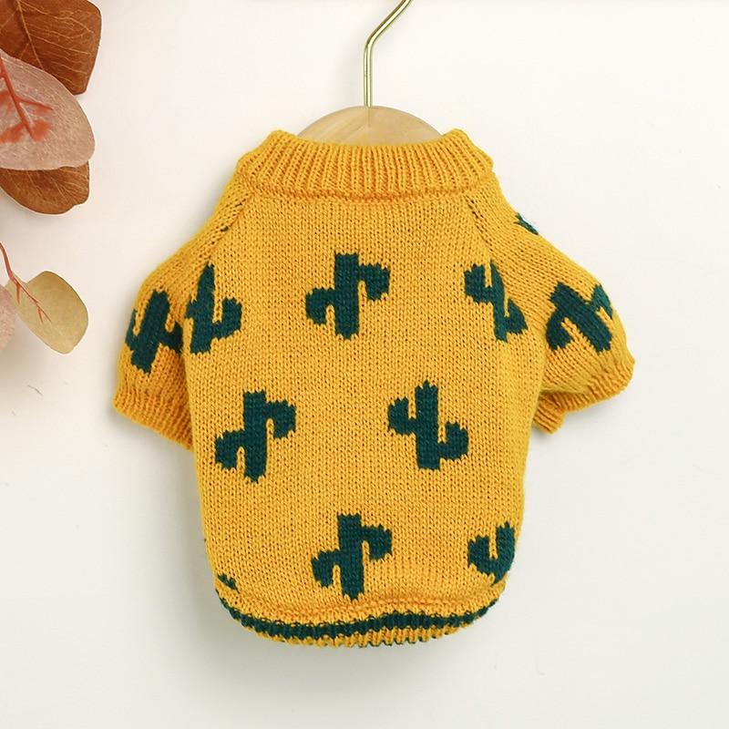 PETCIRCLE одежда для щенков куркума кактус свитер для питомца кота подходит для маленькой собаки весна и осень костюм для собаки Ткань свитер для собаки|Свитера для собак|   | АлиЭкспресс