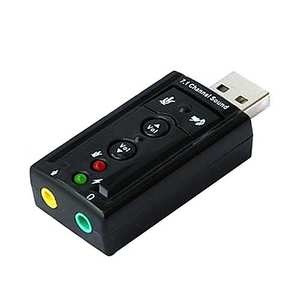 7.1 External USB Sound Cards Portable USB 2.0 External Sound Card Virtual 7.1 Channel Stereo 3.5mm Headphone Audio Adapter