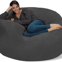 Chair Furniture Sack-Bean-Bag Cover Big Sofa Living-Room Soft Giant Memory-Foam