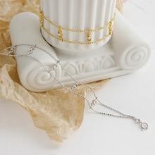 Real 925 Sterling Silver Bracelets For Women Dollar Zircon Bead Gold Chain Bracelet Pulseras Plata De Ley Mujer Jewelry real 925 sterling silver bracelets women 2019 fashion strip chain bracelet bangle silver jewelry pulseras plata de ley 925 mujer