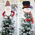 Рождественская елка фигурки жениха и невесты; Милый топ шапка зимняя украшения на дерево для вечеринок Star старика со снеговиком шляпа подве...
