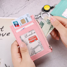 New 1PC Large-capacity Card Package Retractable Card Set Bus Subway Rice Card Cover Soft Zip Coin Pocket Card Case Accessories(China)