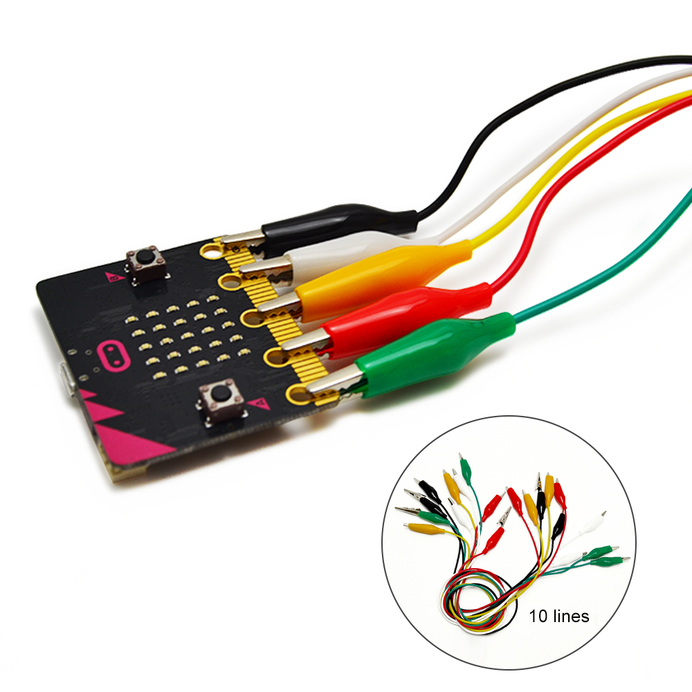 Alligator Clips For BBC Micro:bit Microbit Start  10 Pieces And 5 Colors Test Lead Set & Alligator Clips