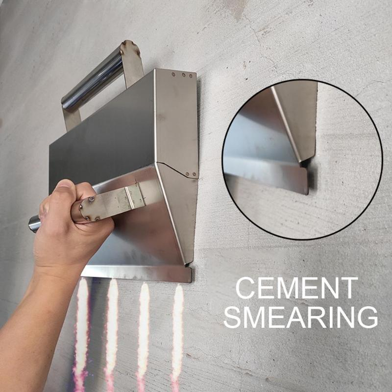 With Handle Ergonomic Plaster Scraper Mortar Hand Tool Anti Slip Cement Wall Decoration Stainless Steel Durable High Performance