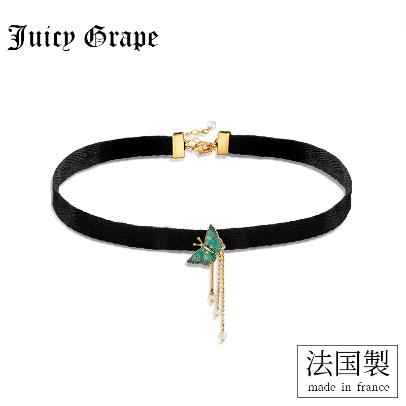 Juicy Grape 2019 new necklace women fashion Insta-famous butterfly tassan black necklace chocker collar neck chain tide
