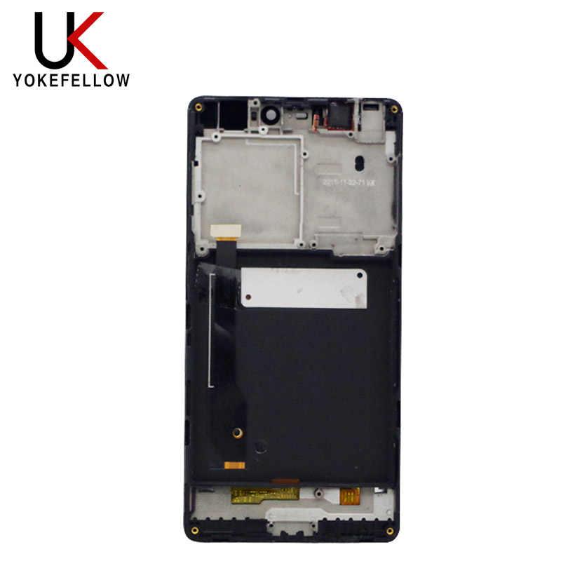 Mo % 100% test çalışma LCD ekran dokunmatik ekran Digitizer meclisi için çerçeve ile Xiaomi Mi4c Mi 4c M4c telefonu değiştirin parçaları