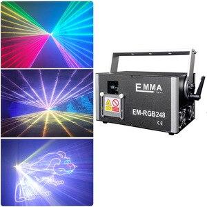 Image 1 - DMX + ILDA + SD + 2D + 3D многоцветный 3 Вт rgb лазерный светильник/dj светильник s/сценический светильник/лазерный проектор