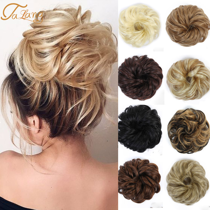 TALANGSynthetic Messy Bun Hair Bun парик для женщин термостойкая резинка для волос кудрявые волосы пончики для наращивания аксессуары