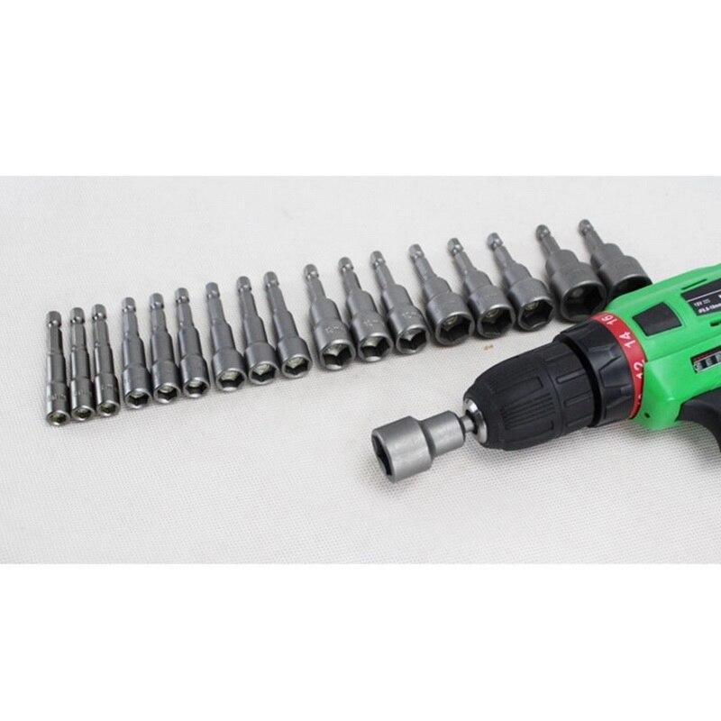 Hot 5/6/9PCs 6-19mm Hex Socket Sleeve Nozzles 1/4