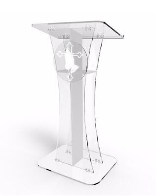Wholesale Free Shipping Acrylic Desktop Lectern / Acrylic Classroom Lectern Podium / Acrylic Podium Table
