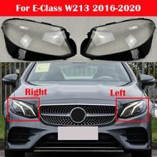 Faróis do carro lâmpada de vidro sombra escudo faróis capa da lâmpada para mercedes-benz e-class w213 e200 e260 e300 e400 2016-2020