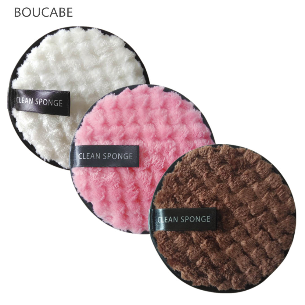 Makeup Remover Puff Face Cleansing Towel Microfiber Cloth Pads Cleansing Makeup Sponge Double Layer Nail Art Cleaning Wipe Tools
