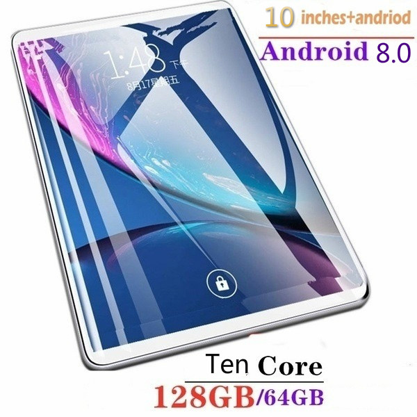 2020 New 10 Inch Tablet Computer 6G Memory 64/128g  Memory Android System Male Tablet Computer Touch Screen Children Tablet