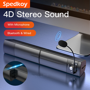 Computer Speakers Detachable Bluetooth Speaker Bar Surround Sound Subwoofer For Computer PC Laptop USB Wired Dual Music Player kiito y15 wired sound bar speakers computer wired speakers home theater tv sound bar speakers computer