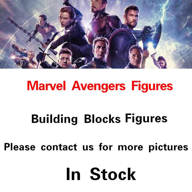 Marvel Avengers 4 Endgame Super Heroes Iron Man Capitan America Thor Spiderman Thanos Figure Building Blocks Giocattoli Per Bambini Regali