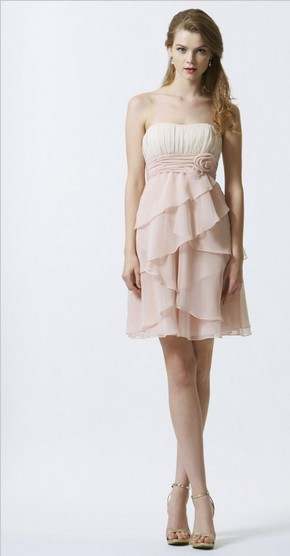 Free Shipping 2016 Dinner Dress Vestidos De Fiesta Celebrity Style Formal Gown Bride Plus Size Short Chiffon Bridesmaid Dresses