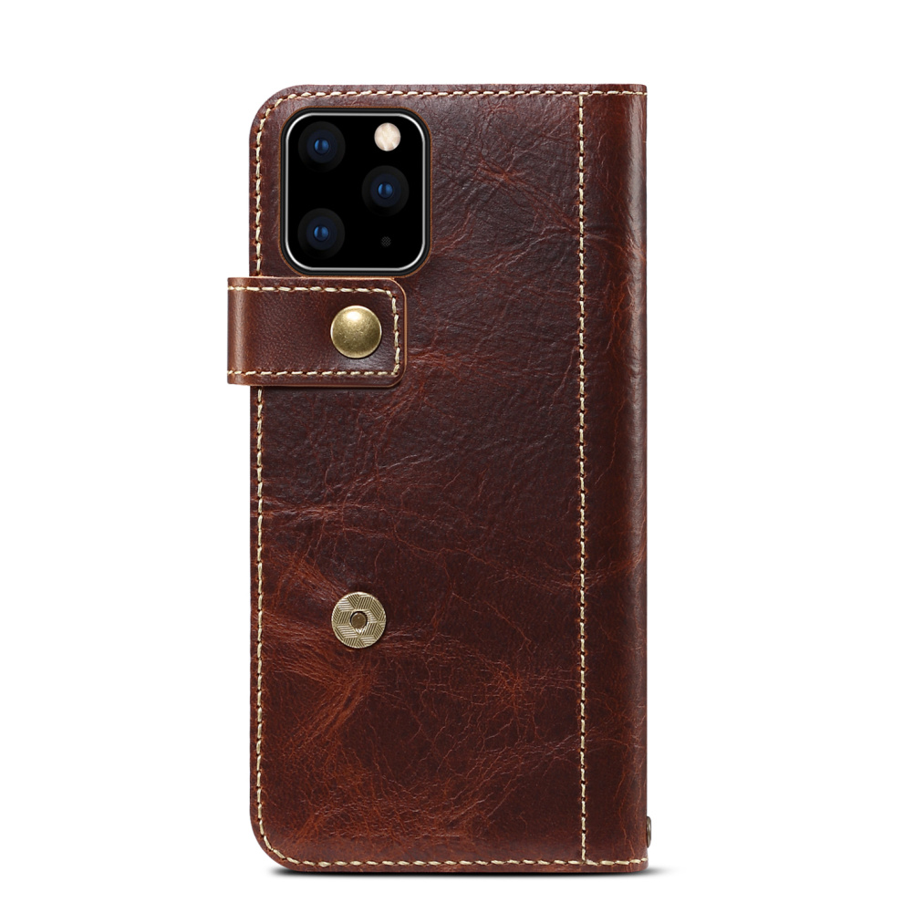 Premium Leather Magnet Button Flip Strap Case for iPhone 11/11 Pro/11 Pro Max 51