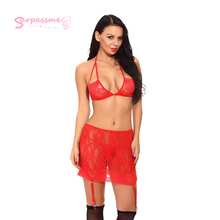 sexy lingerie set women lace floral bra and panty pajamas