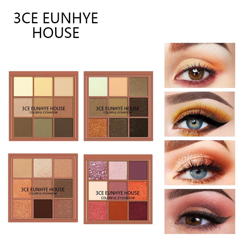 3CE EUNHYE HOUSE Multiple Eye Shadow Palette Long-lasting Waterproof Natural Eyeshadow Matte Satin Shimmer With Brush Eye Makeup