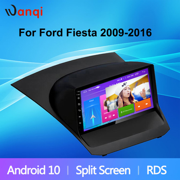 Hot Sale IPS 2.5D 9Inch HD Touch Screen Android 10 Car Player for Ford Fiesta 2009-2017 Multimedia Navigation Car Radio NO DVD image