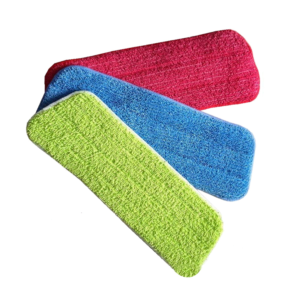 Hot Sale 3PCS Fiber Spray Mop Head Floor Cleaning Cloth Paste The Mop Replace Cloth Household Cleaning Mops Accessories