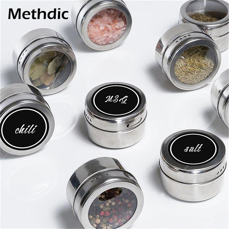 Methdic 500labels/roll Waterproof Bottle Label For Spice Jar