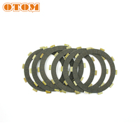 OTOM 6 Pcs Motorcycle Friction Clutch Plates Disc Set For HONDA AX 1 NX250 Motocross Enduro Dirt Bike Motorbike Engine Parts|  -