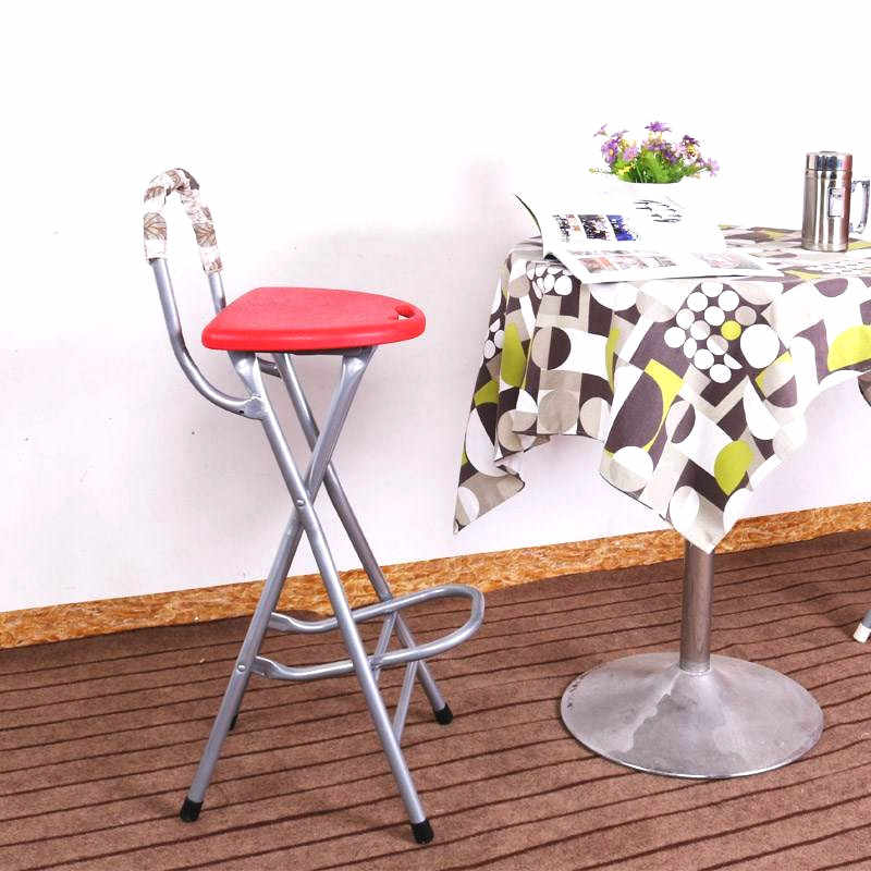 High Leg Stools With Back Folding Balcony Stool Bar Stool Portable Front Desk Chair Bearing 90kg W Aliexpress