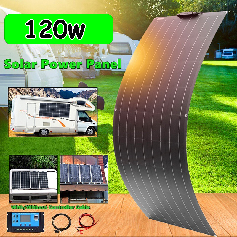 120w 240w <font><b>panel</b></font> <font><b>solar</b></font> fleixble <font><b>12v</b></font> battery charger <font><b>100w</b></font> monocrystalline <font><b>solar</b></font> <font><b>panel</b></font> complete kit for car boat RV caravan travel image
