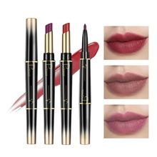 Double End Matte lipsticks Lipliner Set Makeup Waterproof Long Lasting Red Lip Liner Pencil Labiales Beauty Cosmetics