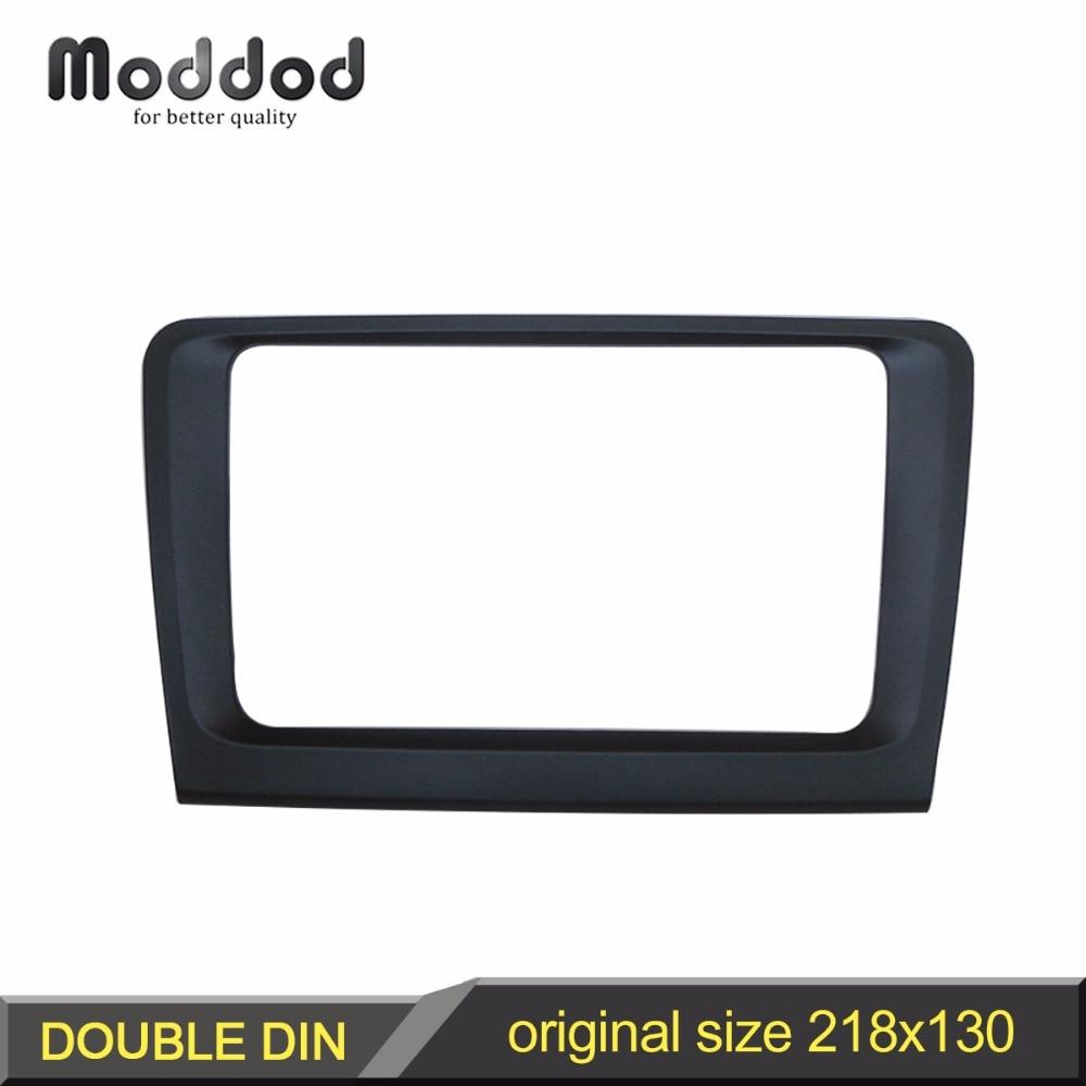 Car Audio Fascia för SKODA SuperB 2008+ Stereo Panel Dash Kit Refitting Installation Trim Face Frame