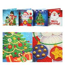 New 4/8 PCS 5D DIY Diamond Painting Greeting Cards Special-shaped Santa Claus Greeting Postcards Diamond Mosaic Handmade Gift sitemap html page 2 page 7 page 6 page 7