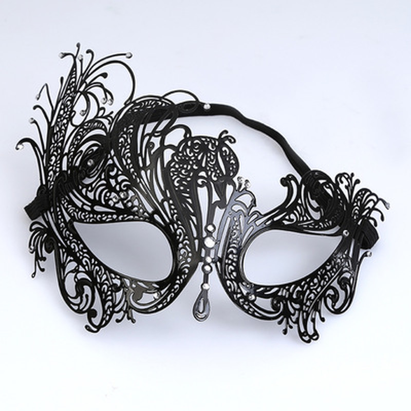 Explosive Metal <font><b>Halloween</b></font> Masquerade Party <font><b>Sexy</b></font> Half Face Wrought Iron Eye <font><b>Mask</b></font> Festival Performance Activity Photography <font><b>Mask</b></font> image