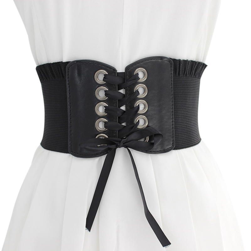 Women Shapewear Waist Fashion High-elastic Super Wide Strap  Slimming Shaper Corset Bow-knot Waistband Cummerbund
