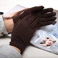 Neue frauen Gebürstet Anlun Stretch Polka Dots Warm und Kalt Radfahren Handschuhe Milch Seide Gebürstet Dicken Handschuhe